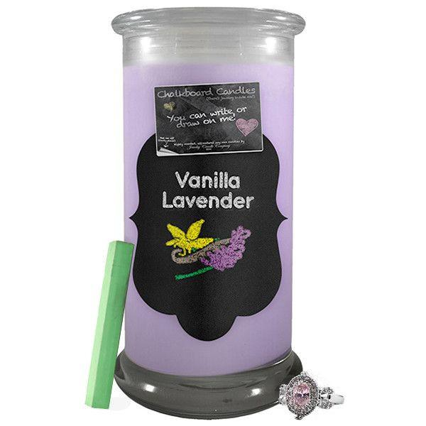 Vanilla Lavender Chalkboard Candle-Chalkboard Jewelry Candles-The Official Website of Jewelry Candles - Find Jewelry In Candles!