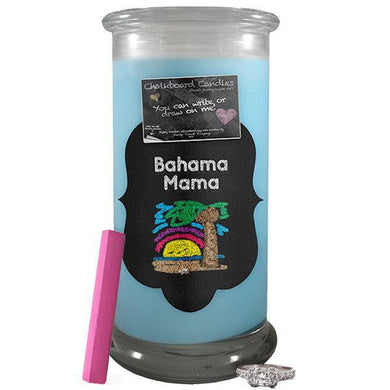 Bahama Mama | Chalkboard Candle-Chalkboard Jewelry Candles-The Official Website of Jewelry Candles - Find Jewelry In Candles!