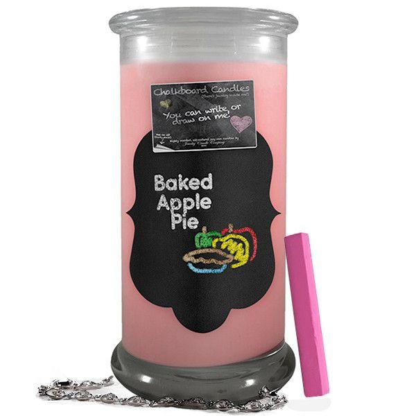 Baked Apple Pie Chalkboard Candle-Chalkboard Jewelry Candles-The Official Website of Jewelry Candles - Find Jewelry In Candles!