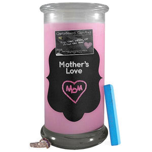 Mother's Love | Chalkboard Candle-Chalkboard Jewelry Candles-The Official Website of Jewelry Candles - Find Jewelry In Candles!