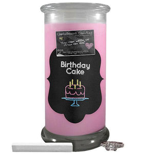 Birthday Cake | Chalkboard Candle-Chalkboard Jewelry Candles-The Official Website of Jewelry Candles - Find Jewelry In Candles!