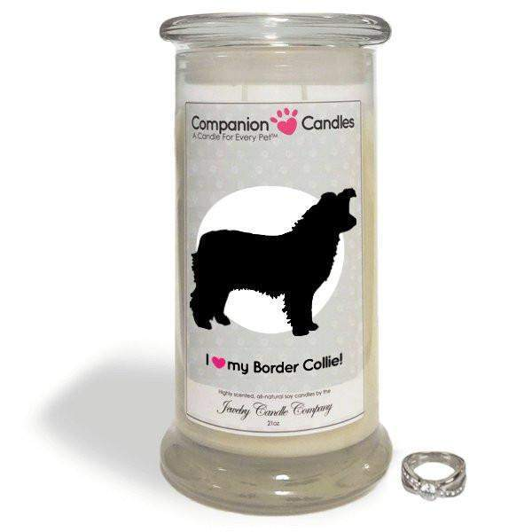 I Love My Border Collie! - Companion Candles-Companion Candles-The Official Website of Jewelry Candles - Find Jewelry In Candles!