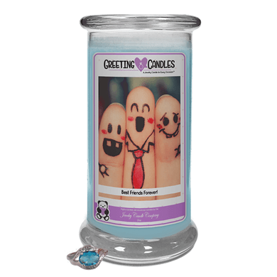 Best Friends Forever! | Jewelry Greeting Candles - Jewelry Candles | A Hidden Jewel Inside Every Candle™