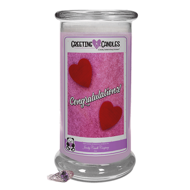 Congratulations! | Jewelry Greeting Candles - Jewelry Candles | A Hidden Jewel Inside Every Candle™