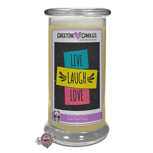 Live, Laugh, Love | Jewelry Greeting Candles-Live Laugh Love Jewelry Greeting Candles-The Official Website of Jewelry Candles - Find Jewelry In Candles!
