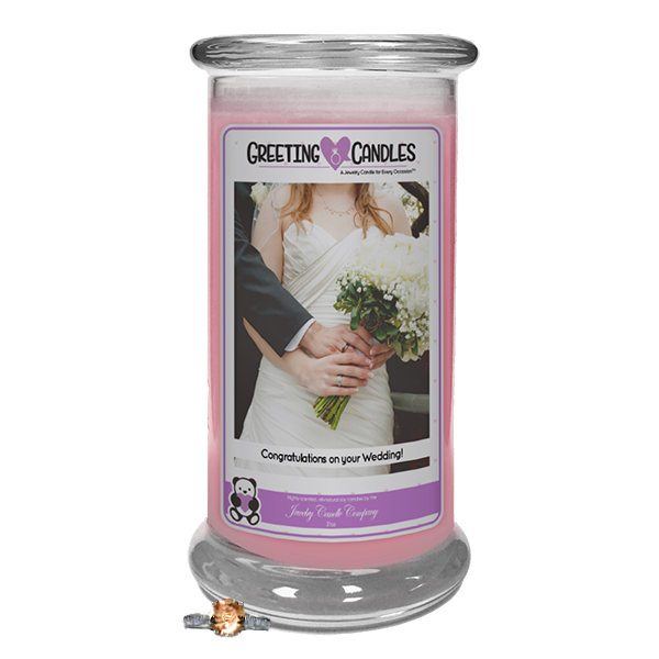 Congratulations On Your Wedding | Jewelry Greeting Candles-Congratulations on your Wedding! Jewelry Greeting Candle-The Official Website of Jewelry Candles - Find Jewelry In Candles!