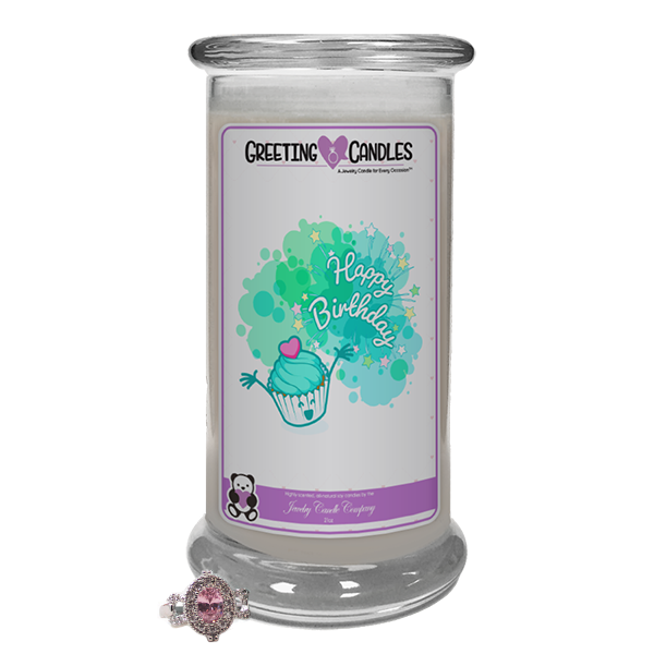 Happy Birthday! | Jewelry Greeting Candle-Happy Birthday To You Jewelry Greeting Candle-The Official Website of Jewelry Candles - Find Jewelry In Candles!
