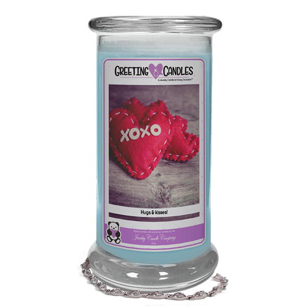 "XOXO Hugs & kisses! | Jewelry Greeting Candle-""All that I am or hope to be, I owe to my Mother."" - Abraham Lincoln Jewelry Greeting Candle-The Official Website of Jewelry Candles - Find Jewelry In Candles!"