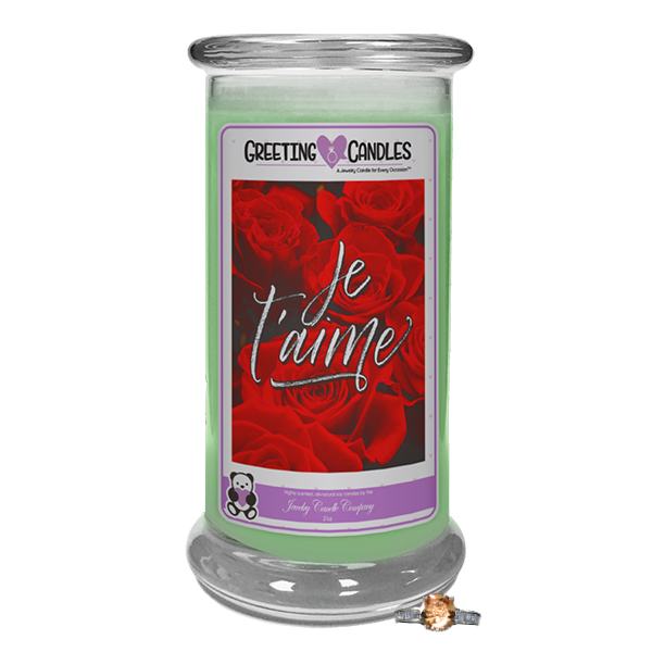"Je T'aime | Jewelry Greeting Candle-""All that I am or hope to be, I owe to my Mother."" - Abraham Lincoln Jewelry Greeting Candle-The Official Website of Jewelry Candles - Find Jewelry In Candles!"