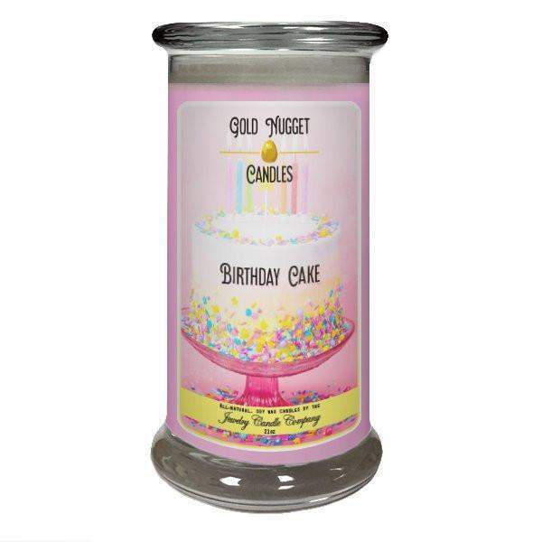 Birthday Cake Gold Nugget Candle-Gold Nugget Candles-The Official Website of Jewelry Candles - Find Jewelry In Candles!