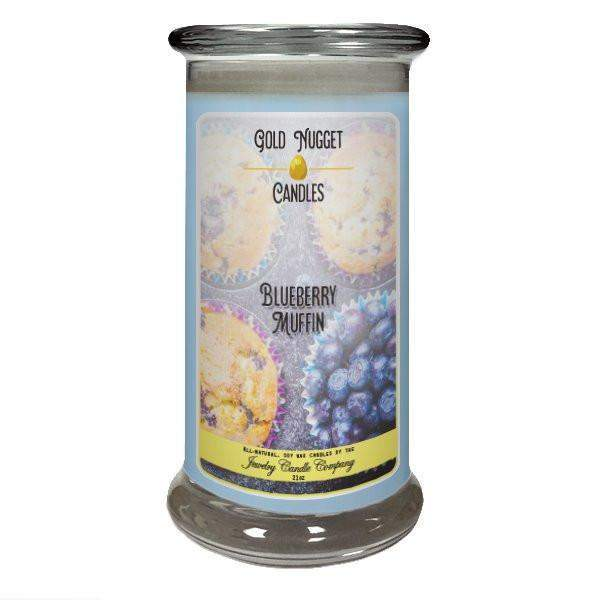 Blueberry Muffin Gold Nugget Candle-Gold Nugget Candles-The Official Website of Jewelry Candles - Find Jewelry In Candles!