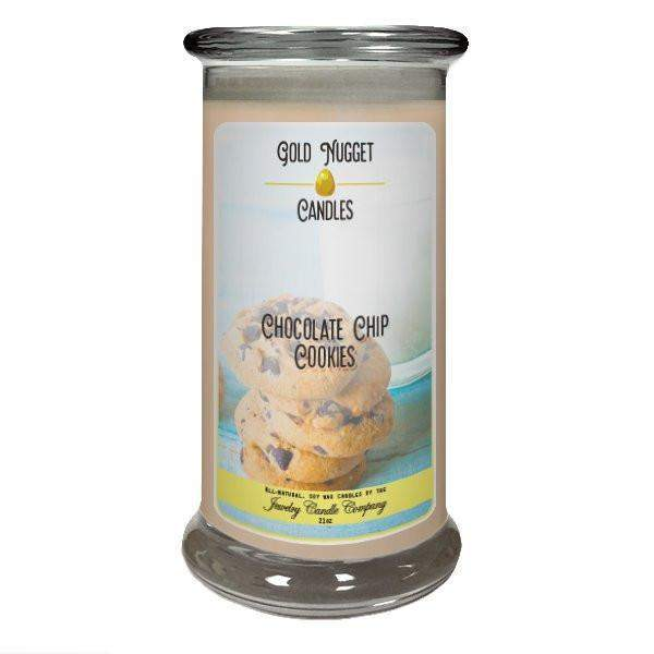 Chocolate Chip Cookies Gold Nugget Candle-Gold Nugget Candles-The Official Website of Jewelry Candles - Find Jewelry In Candles!