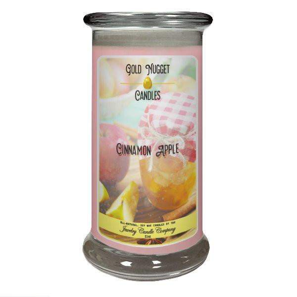 Cinnamon Apple Gold Nugget Candle-Gold Nugget Candles-The Official Website of Jewelry Candles - Find Jewelry In Candles!