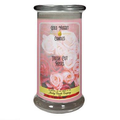 Fresh Cut Roses Gold Nugget Candle-Gold Nugget Candles-The Official Website of Jewelry Candles - Find Jewelry In Candles!