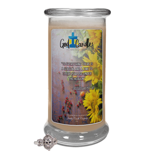 Ecclesiastes 3:1 Verse God Candle - Jewelry Candles | A Hidden Jewel Inside Every Candle™