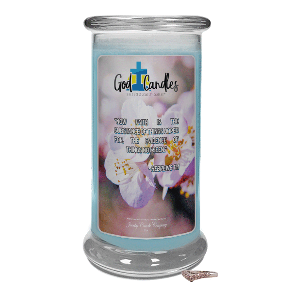 Hebrews 11:1 Verse God Candle - Jewelry Candles | A Hidden Jewel Inside Every Candle™