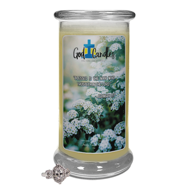 Jeremiah 17:7 Verse God Candle - Jewelry Candles | A Hidden Jewel Inside Every Candle™