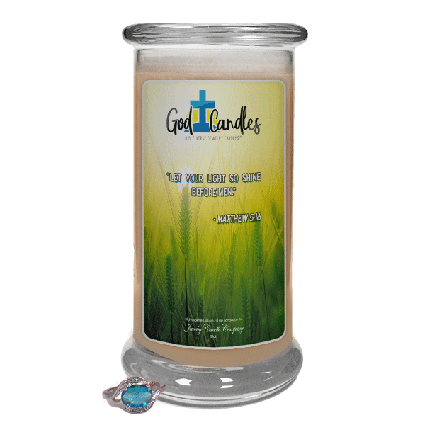 Matthew 5:16 Verse God Candle - Jewelry Candles | A Hidden Jewel Inside Every Candle™