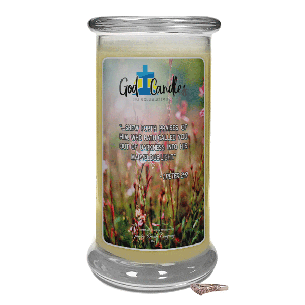 1 Peter 2:9 Verse God Candle - Jewelry Candles | A Hidden Jewel Inside Every Candle™