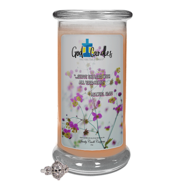 1 Samuel 12:20 Verse God Candle - Jewelry Candles | A Hidden Jewel Inside Every Candle™