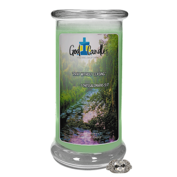 1 Thessalonians 5:17 Verse God Candle - Jewelry Candles | A Hidden Jewel Inside Every Candle™