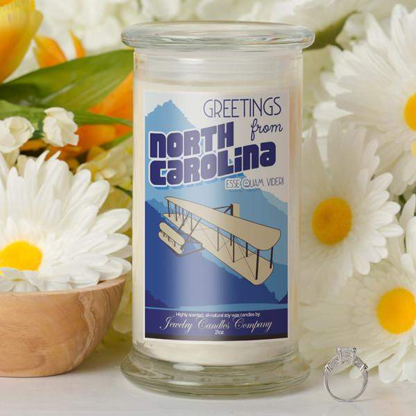 Greetings From North Carolina - Greetings From Candles-Greetings From Candles-The Official Website of Jewelry Candles - Find Jewelry In Candles!