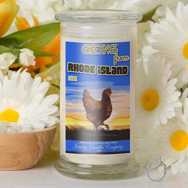 Greetings From Rhode Island - Greetings From Candles-Greetings From Candles-The Official Website of Jewelry Candles - Find Jewelry In Candles!