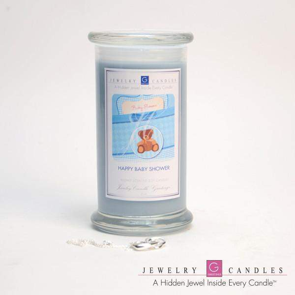 Happy Baby Shower (Boy) Jewelry Greeting Candles-Happy Baby Shower (Boy) Jewelry Greeting Candle-The Official Website of Jewelry Candles - Find Jewelry In Candles!
