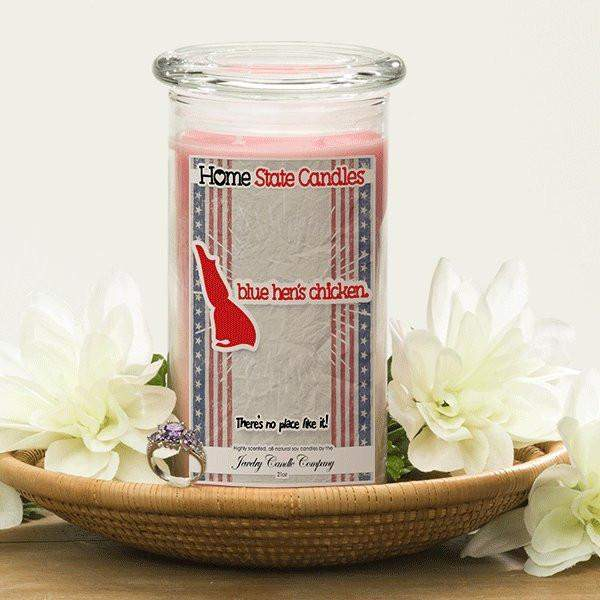 Home State Demonyms Jewelry Candles - Blue Hen's Chicken-Home State Demonyms Jewelry Candles-The Official Website of Jewelry Candles - Find Jewelry In Candles!