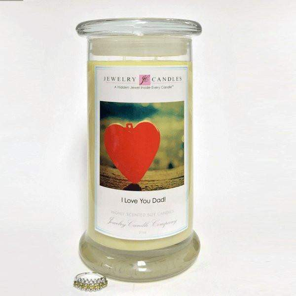 I Love You Dad! - Jewelry Greeting Candles-Jewel Candles-The Official Website of Jewelry Candles - Find Jewelry In Candles!