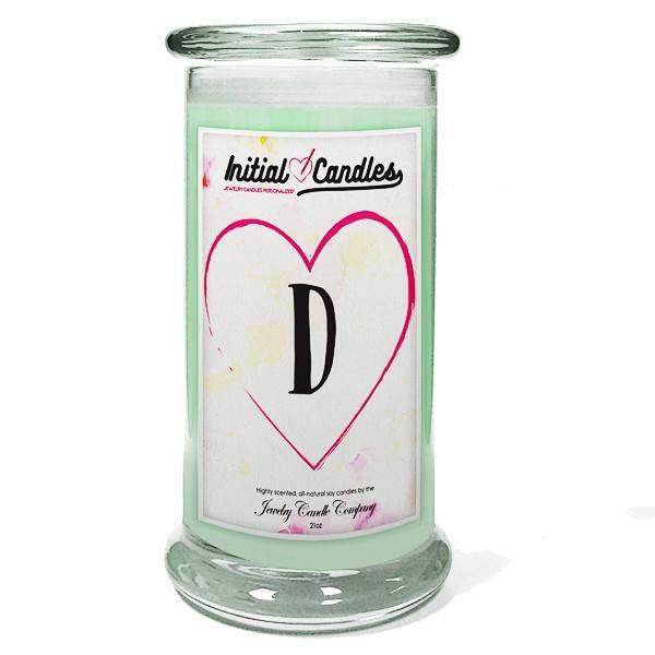 Letter D Initial Candles-Initial Candles-The Official Website of Jewelry Candles - Find Jewelry In Candles!