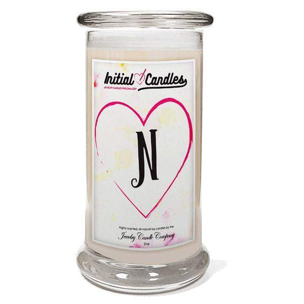 Letter N Initial Candles-Initial Candles-The Official Website of Jewelry Candles - Find Jewelry In Candles!