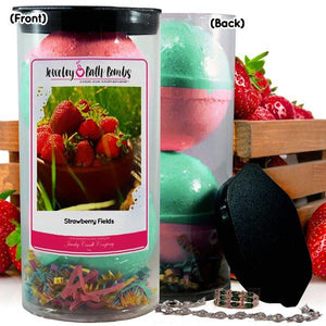 Strawberry Fields Jewelry Bath Bombs-Jewelry Bath Bombs-The Official Website of Jewelry Candles - Find Jewelry In Candles!
