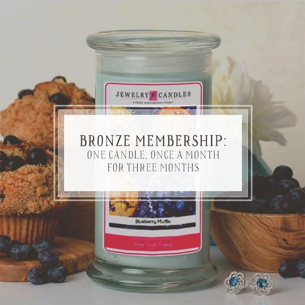 Candle of the Month Club | Bronze Package | One Candle, Once a month, for 3 months-The Official Website of Jewelry Candles - Find Jewelry In Candles!