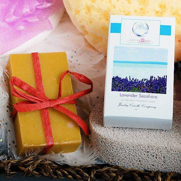 Lavender Seashore Jewelry Soap (No Jewel)-Lavender Seashore Jewelry Soap-The Official Website of Jewelry Candles - Find Jewelry In Candles!