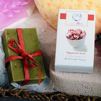 Peppermint Swirl Jewelry Soap (No Jewel)-Peppermint Swirl Jewelry Soap-The Official Website of Jewelry Candles - Find Jewelry In Candles!