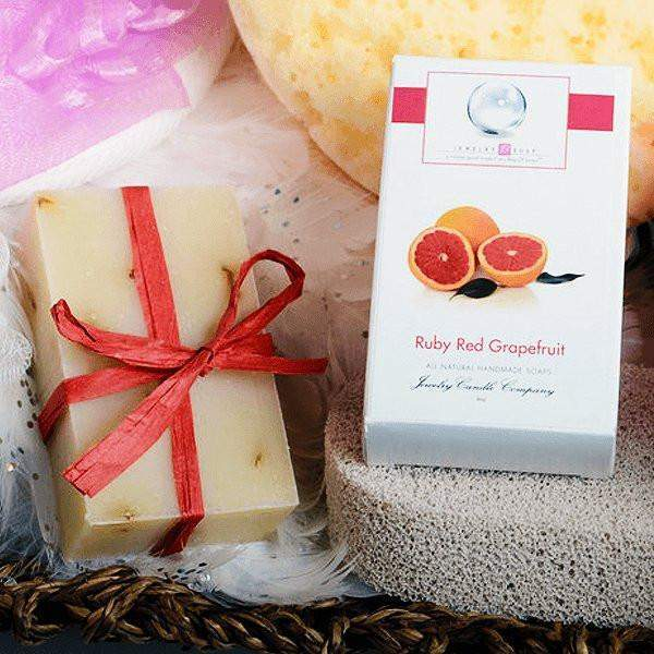 Ruby Red Grapefruit Jewelry Soap (No Jewel)-Ruby Red Grapefruit Jewelry Soap-The Official Website of Jewelry Candles - Find Jewelry In Candles!