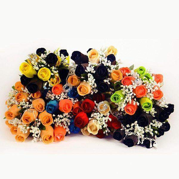 Half Dozen Wax Dipped Roses-Create Your Own Dozen Roses-The Official Website of Jewelry Candles - Find Jewelry In Candles!