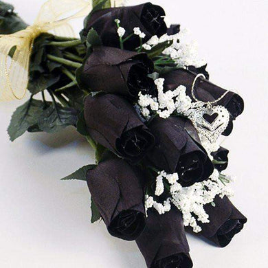Black Wax Dipped Roses Bouquet-Black Wax Roses-The Official Website of Jewelry Candles - Find Jewelry In Candles!