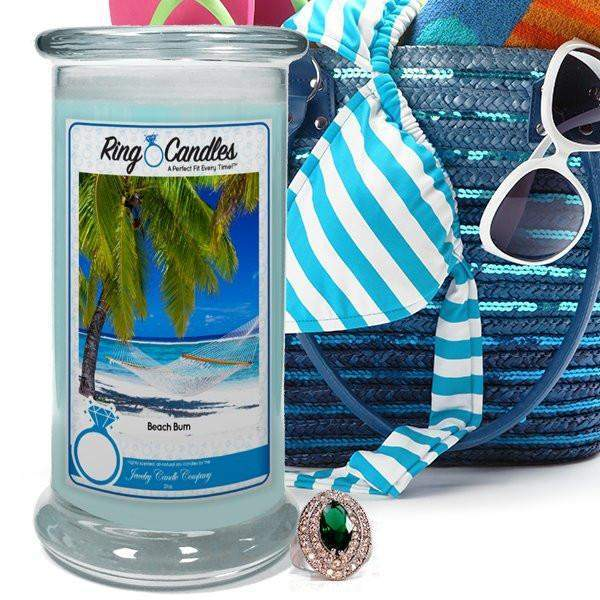 Beach Bum Ring Candle-Beach Bum Ring Candle-The Official Website of Jewelry Candles - Find Jewelry In Candles!