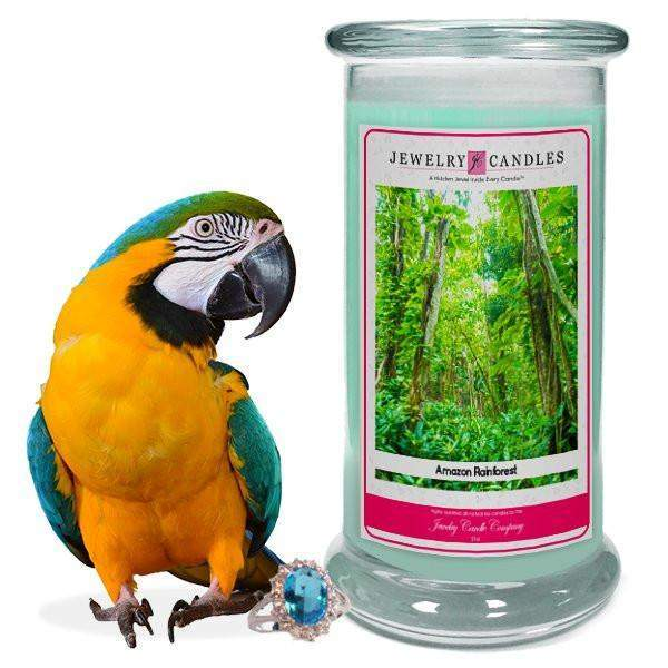Amazon Rainforest Jewelry Candle-Amazon Rain Forest Jewelry Candles-The Official Website of Jewelry Candles - Find Jewelry In Candles!