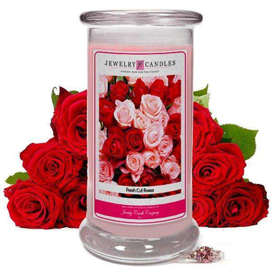 Fresh Cut Roses | Jewelry Candle®-Fresh Cut Roses-The Official Website of Jewelry Candles - Find Jewelry In Candles!