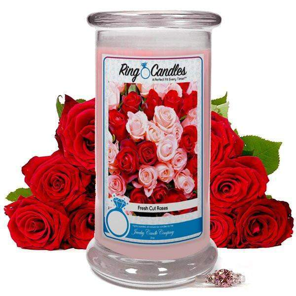 Fresh Cut Roses Ring Candle-Fresh Cut Roses-The Official Website of Jewelry Candles - Find Jewelry In Candles!