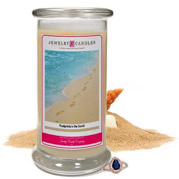 Footprints In The Sand Jewelry Candle-Footprints In The Sand Jewelry Candle-The Official Website of Jewelry Candles - Find Jewelry In Candles!