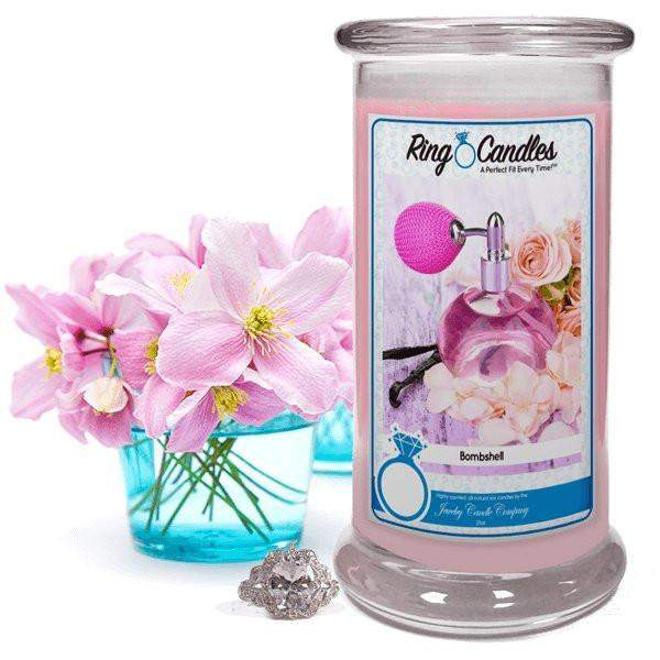 Bombshell Ring Candle-Bombshell Ring Candle-The Official Website of Jewelry Candles - Find Jewelry In Candles!