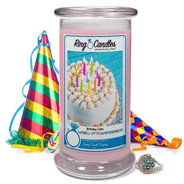 Birthday Cake Ring Candle-Birthday Cake Ring Candle-The Official Website of Jewelry Candles - Find Jewelry In Candles!
