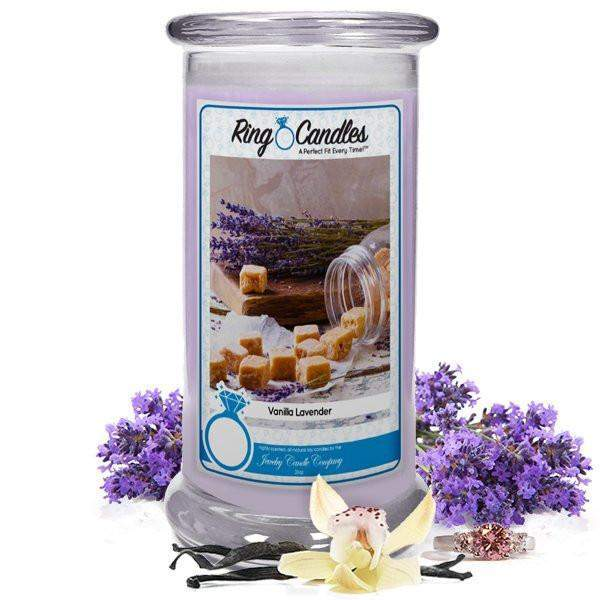 Vanilla Lavender Ring Candle-Vanilla Lavender Ring Candle-The Official Website of Jewelry Candles - Find Jewelry In Candles!