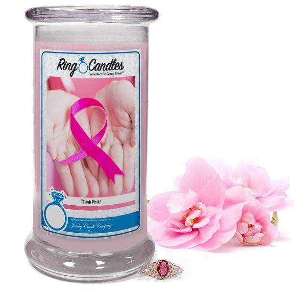 Think Pink! | Ring Candle®-Think Pink Ring Candle-The Official Website of Jewelry Candles - Find Jewelry In Candles!