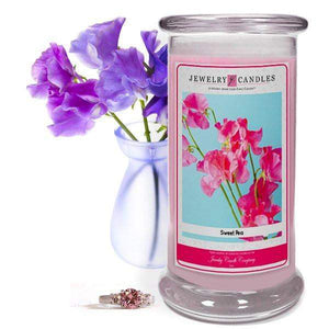 Sweet Pea | Jewelry Candle®-Sweet Pea Jewelry Candles-The Official Website of Jewelry Candles - Find Jewelry In Candles!