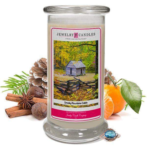 Smoky Mountains Cabin Jewelry Candle-Smoky Mountains Cabin Jewelry Candle-The Official Website of Jewelry Candles - Find Jewelry In Candles!